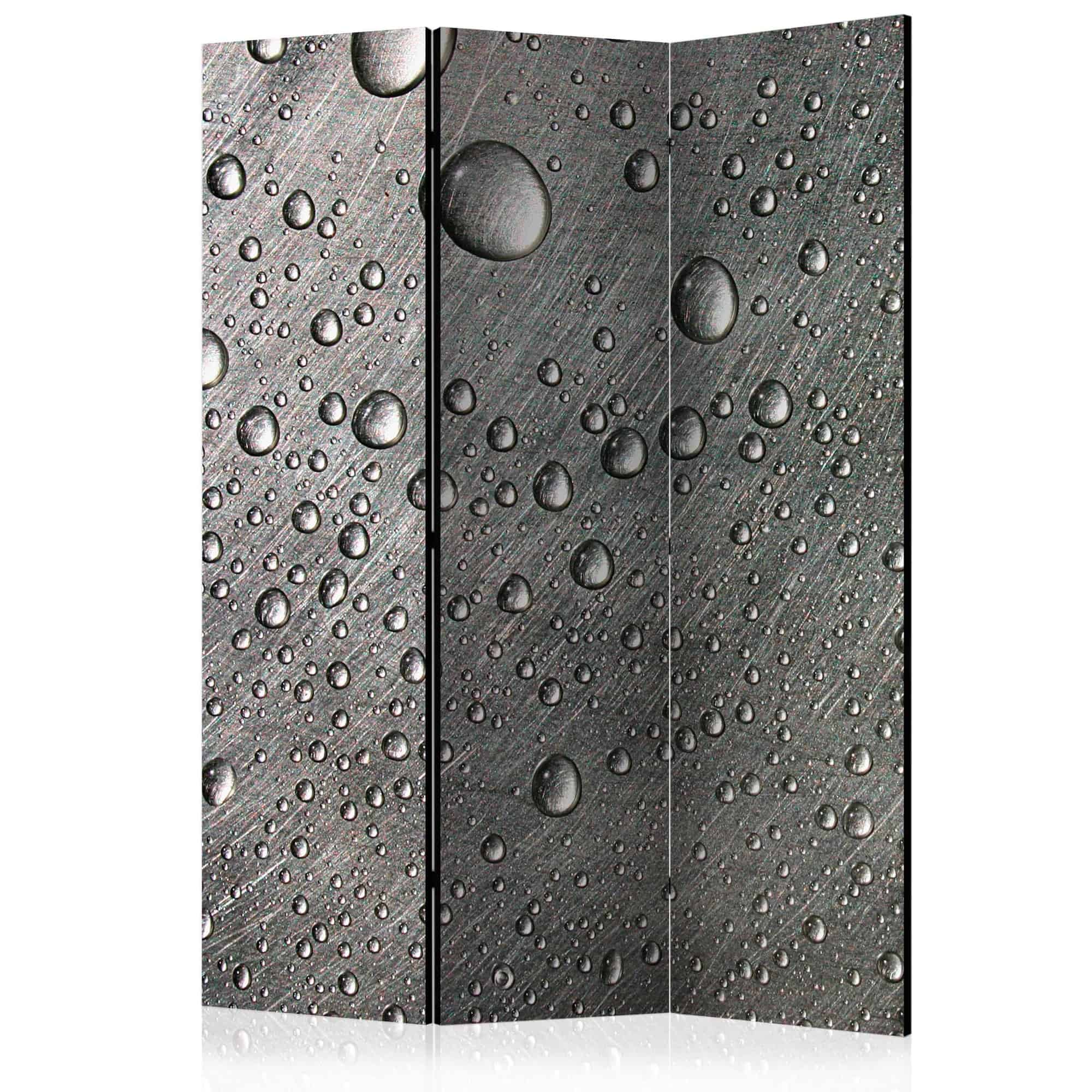 Skærmvæg Steel surface with water drops
