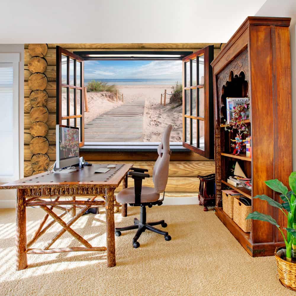 Fototapet Beach outside the window