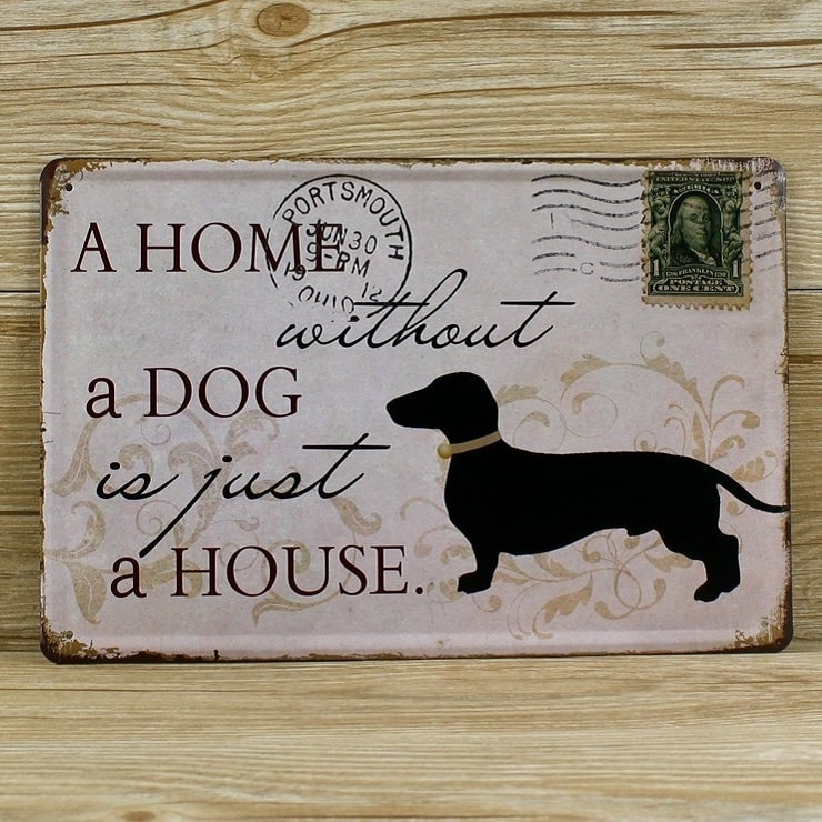 Image of   Emaljeskilt A home without a dog