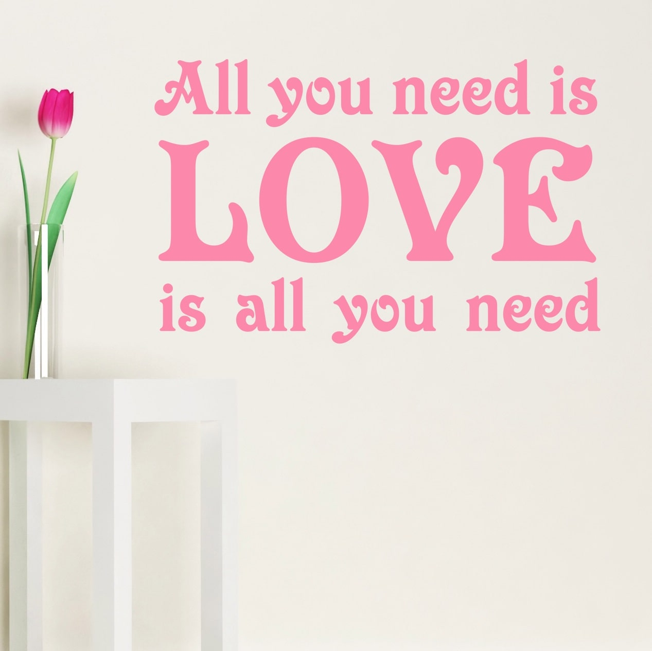 all you need is love wallsticker fra nicewall dk