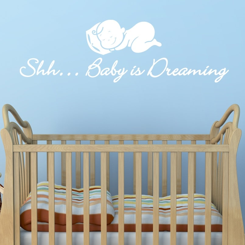 Image of   Baby is dreaming - Sort 100x30 cm.