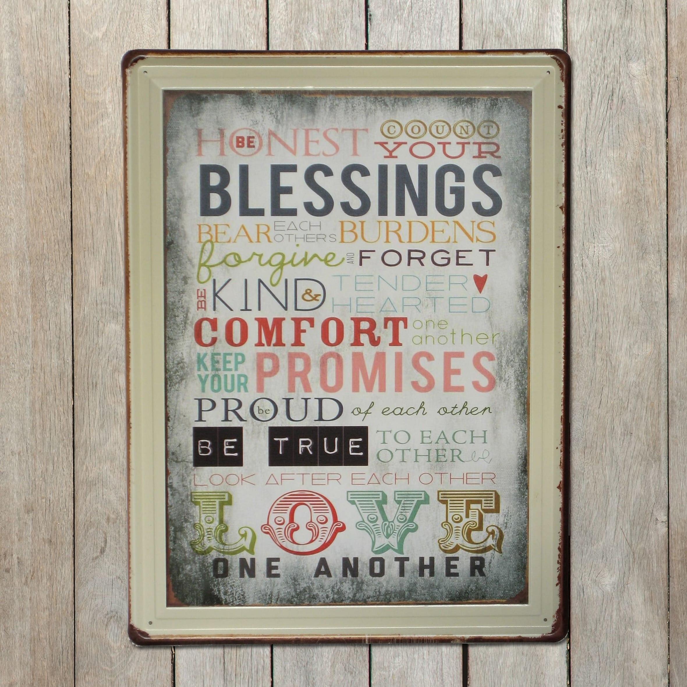 Emaljeskilt Be honest - Count your blessings