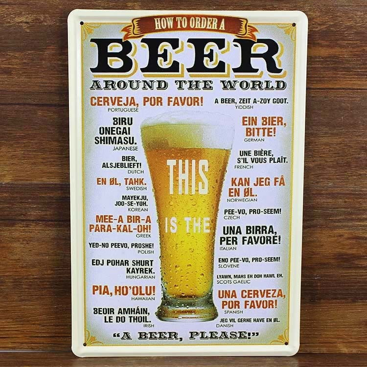 Image of   Emaljeskilt Beer around the World