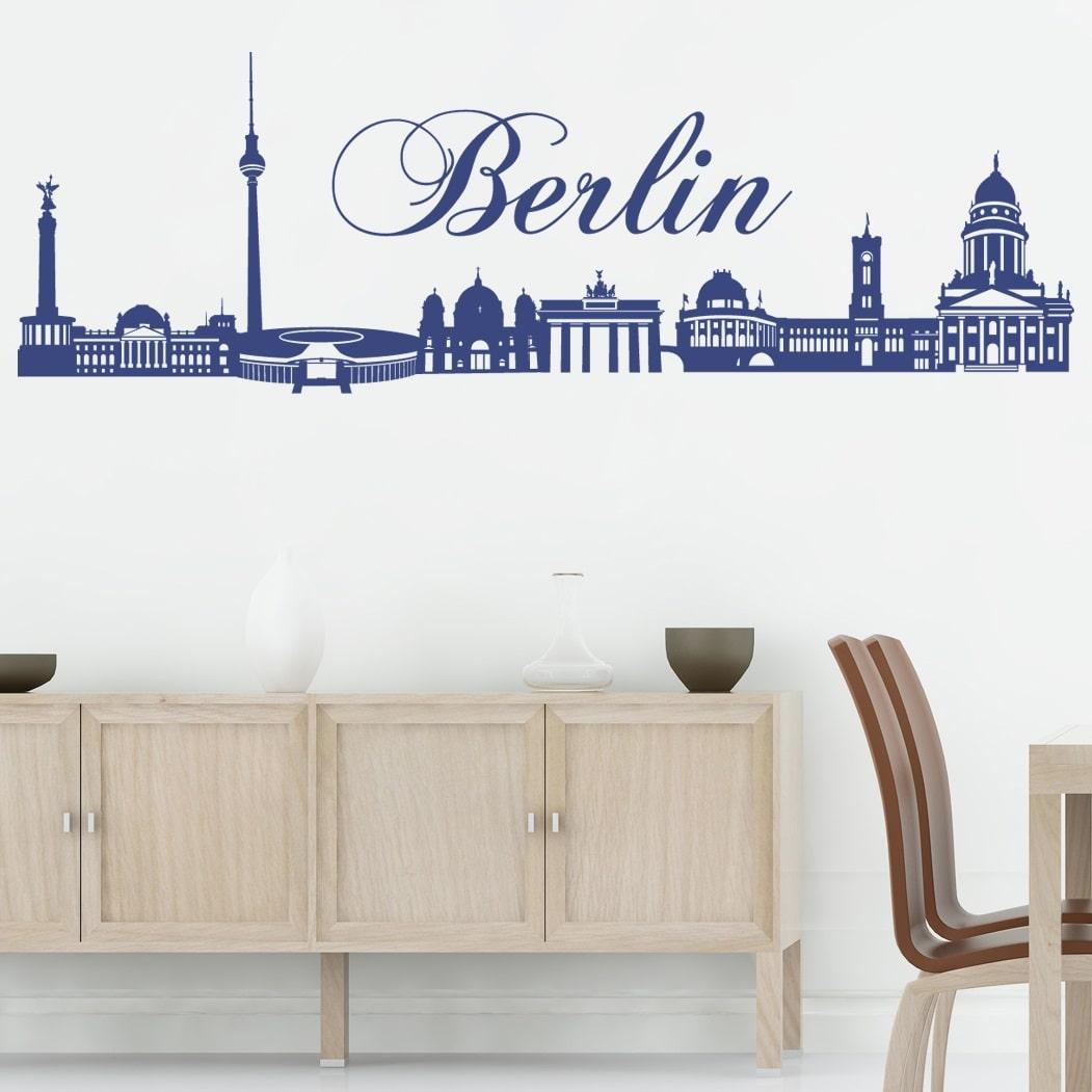 Billede af Wallsticker Berlin - Hvid 120x38 cm.