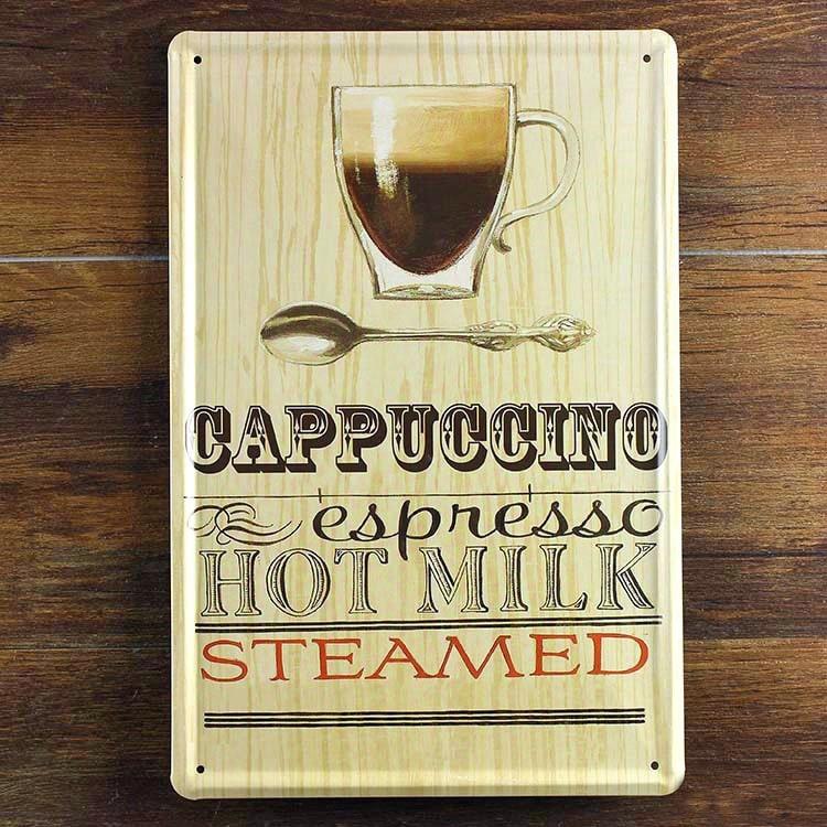 Image of   Emaljeskilt Cappuccino