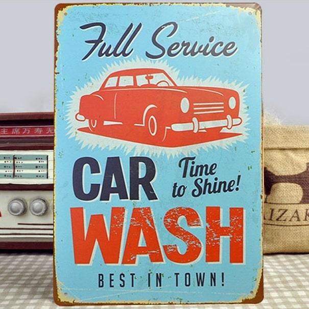 Image of   Emaljeskilt Full service car wash