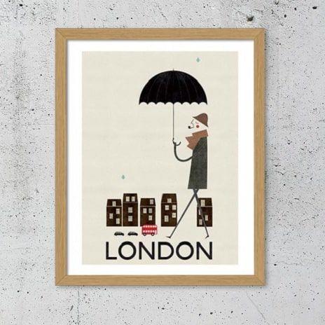 London retro plakat - NiceWall.dk