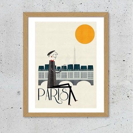 Paris retro plakat - NiceWall.dk