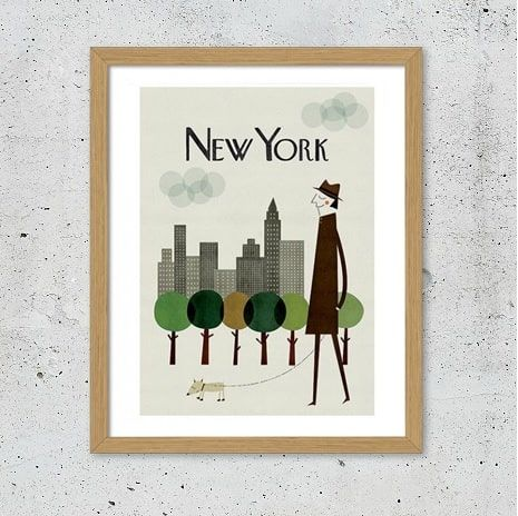 New York retro plakat