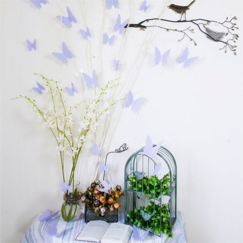 3D Sommerfugle wallstickers - lavendel