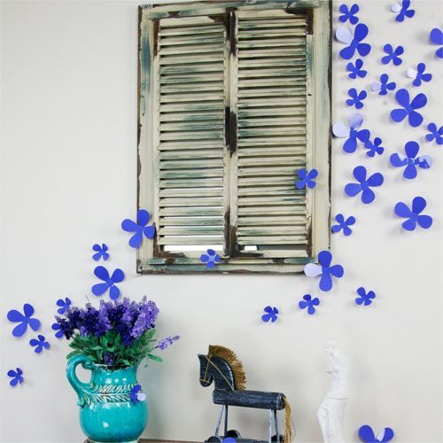 3D Blomster wallstickers - lilla