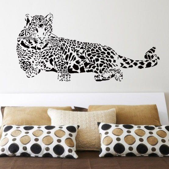 Leopard Wallsticker - Flot til væggen - NiceWall.dk