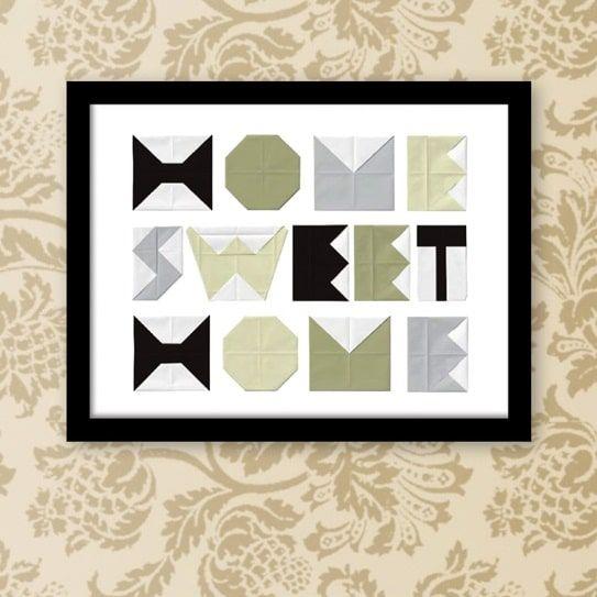 Plakat: Home Sweet Home - NiceWall.dk