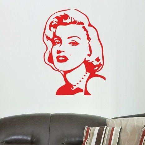 Wallsticker Marilyn Monroe - NiceWall.dk