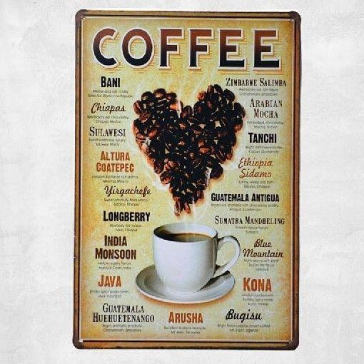 Emaljeskilt Coffee beans - NiceWall.dk