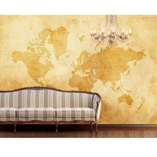 Gammelt verdenskort - Foto tapet - Foto stat