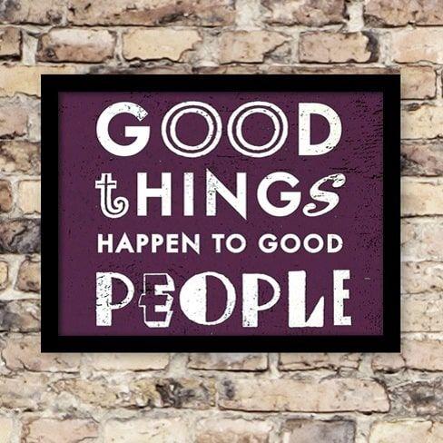 Plakat: Good Things - NiceWall.dk
