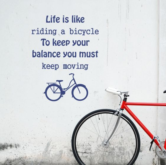 Wallsticker Life is like riding a Bicycle - NiceWall.dk