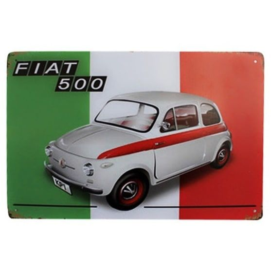 Emaljeskilt Fiat 500 - NiceWall.dk