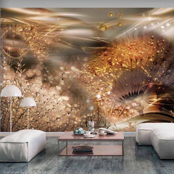 Dandelions' World (Gold) fotostat - flot foto tapet til væggen