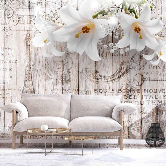 Parisian Lilies fotostat - flot foto tapet til væggen