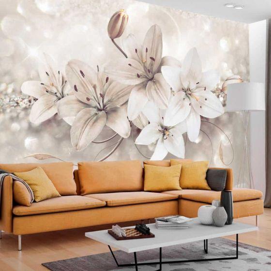 Diamond Lilies fotostat - flot foto tapet til væggen