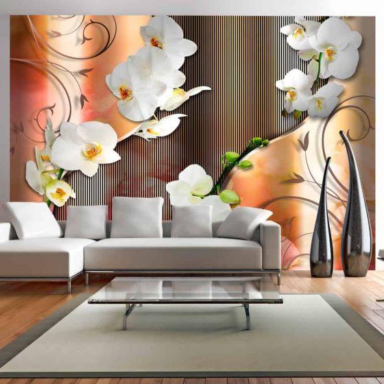 Orchid fotostat - flot foto tapet til væggen