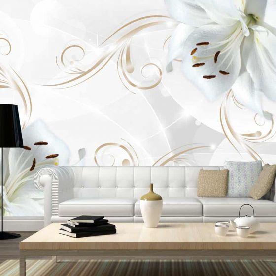 White dancers fotostat - flot foto tapet til væggen