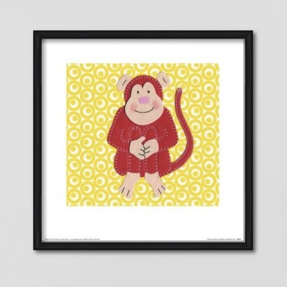 Abe plakat - Plakat med en sød abe til børneværelset - NiceWall.dk