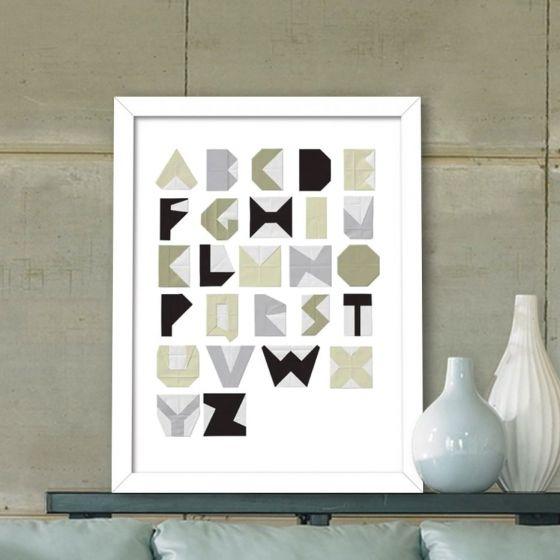 Plakat: Alfabetet fra A til Z  - NiceWall.dk