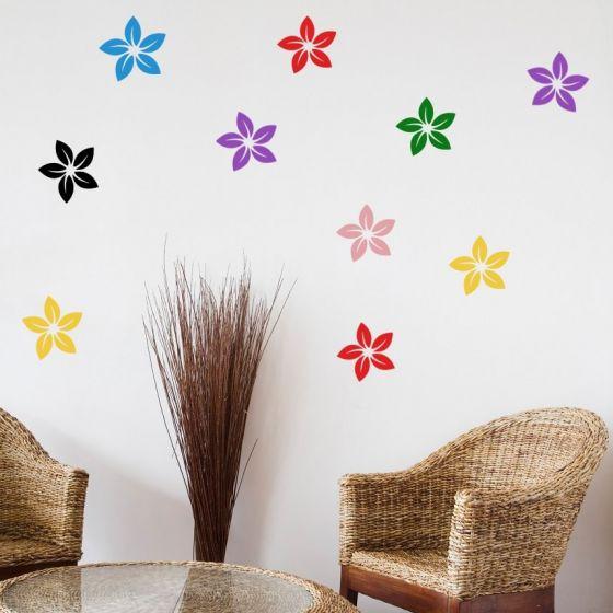 Wallsticker Blomster i forskellige farver - NiceWall.dk