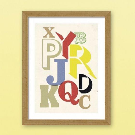 Plakat: Letters - NiceWall.dk