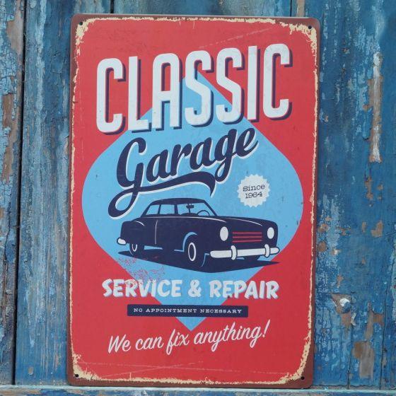 Emaljeskilt Classic Garage - Service & Repair - NiceWall.dk