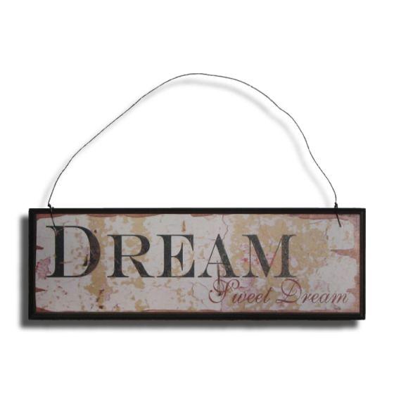 Dream Sweet Dream Træskilt - Sød vægdekoration med skilt i træ