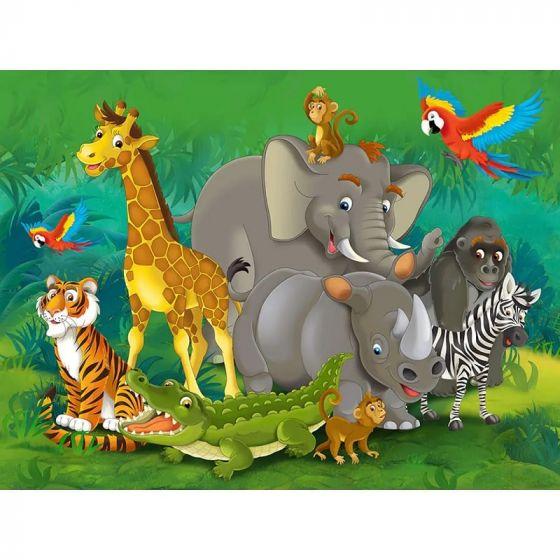 Dyr i junglen fotostat. Flot foto tapet med jungledyr.