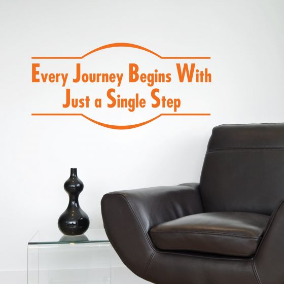 Every Journey Begins - Wallstickers fra NiceWall.dk