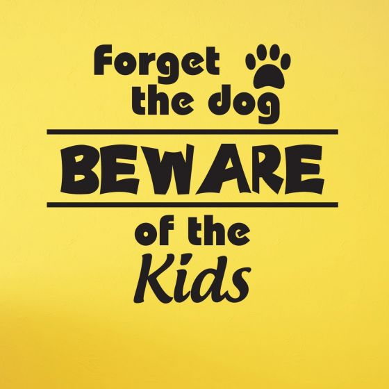 Beware of the kids - Wallstickers fra NiceWall.dk