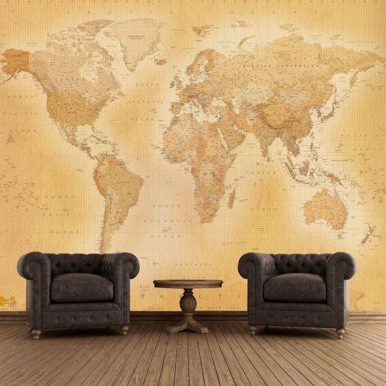 Gammelt verdens kort - Foto tapet - Foto stat