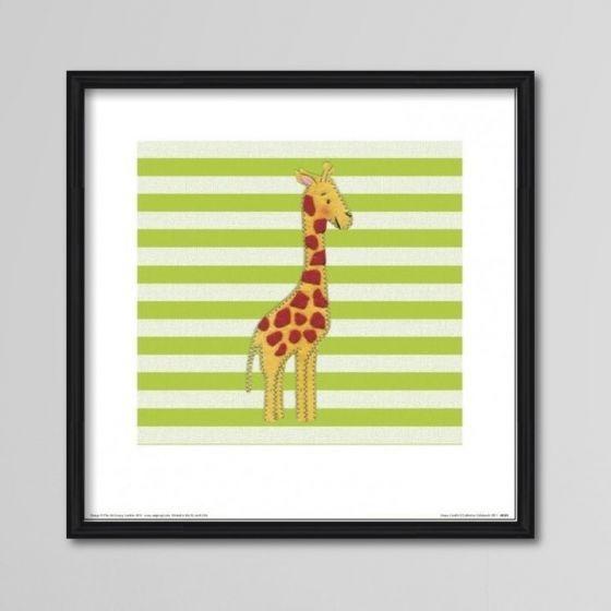 Girafplakat - Plakat med sød giraf til børneværelset - NiceWall.dk
