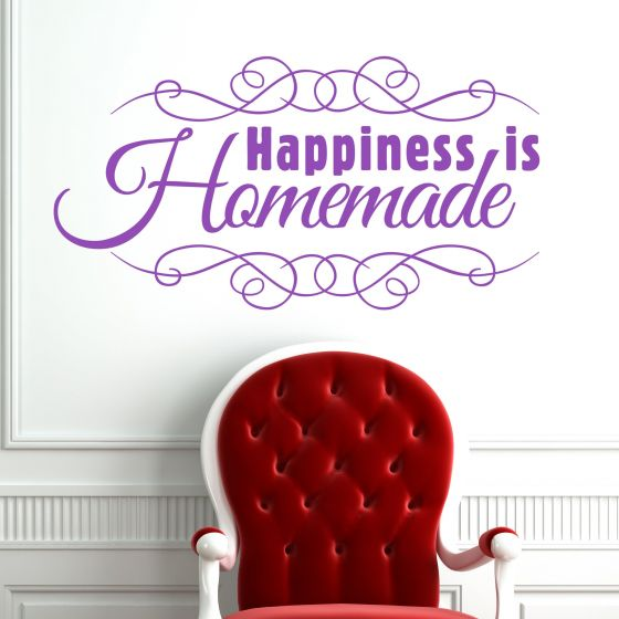 Happiness is Homemade - Wallsticker fra NiceWall.dk