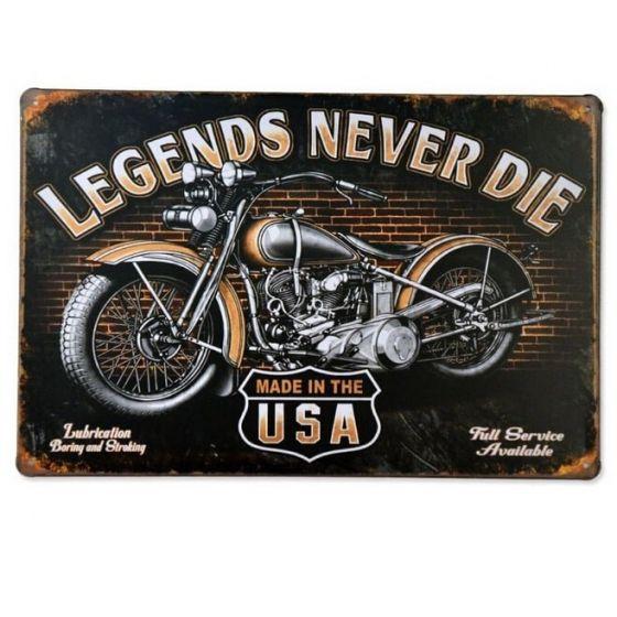 Emaljeskilt Harley Davidson Legends - NiceWall.dk