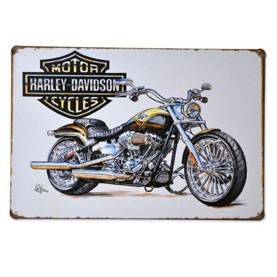 Emaljeskilt Harley Davidson - NiceWall.dk