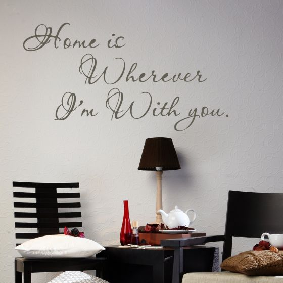 Wallsticker Home is Wherever I'm With You - NiceWall.dk