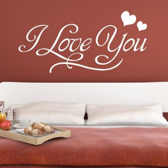 Wallsticker I Love You - NiceWall.dk