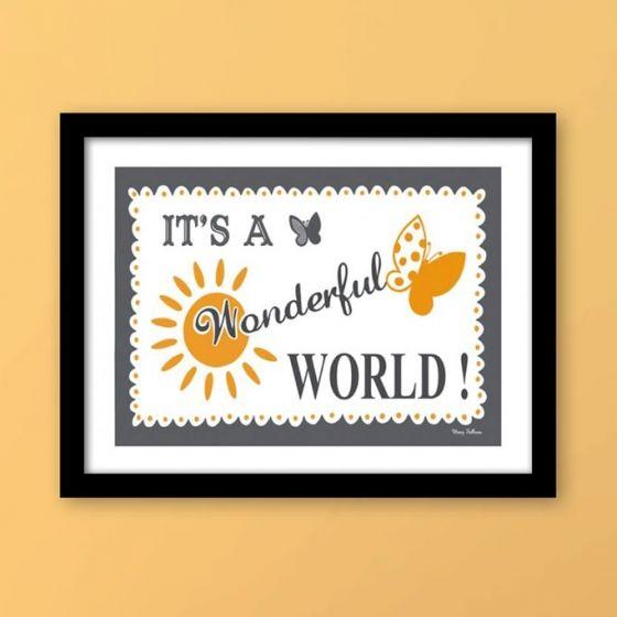 Plakat: It's a Wonderful World! - NiceWall.dk
