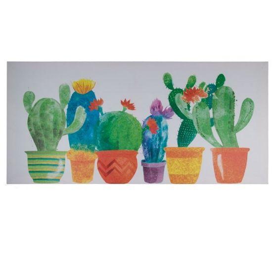 Kaktus træskilt - Flot skilt i træ med tekst - Kanvasprint til boligen