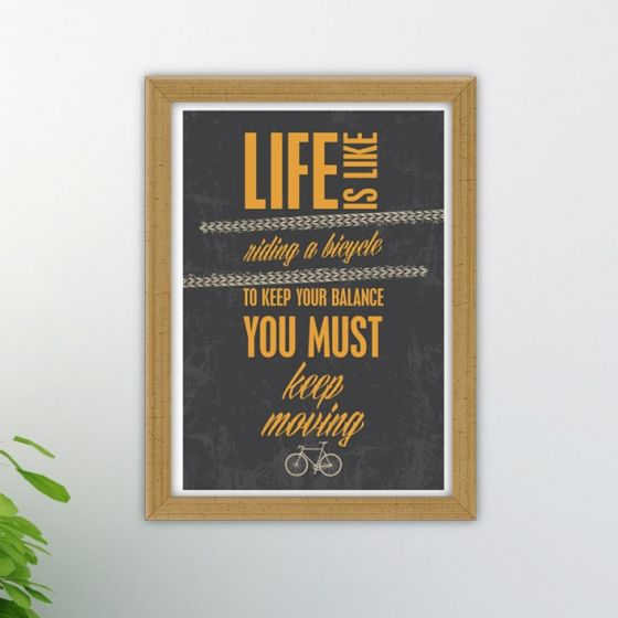 Plakat: Life is like riding a Bicycle - NiceWall.dk
