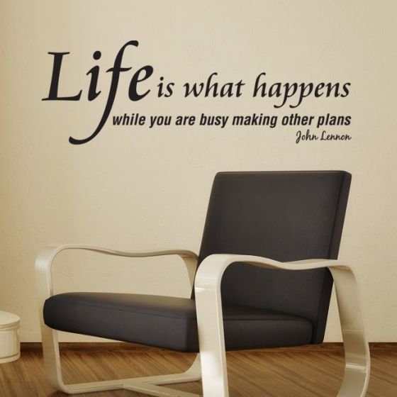 Wallstickers Life is what happens - NiceWall.dk