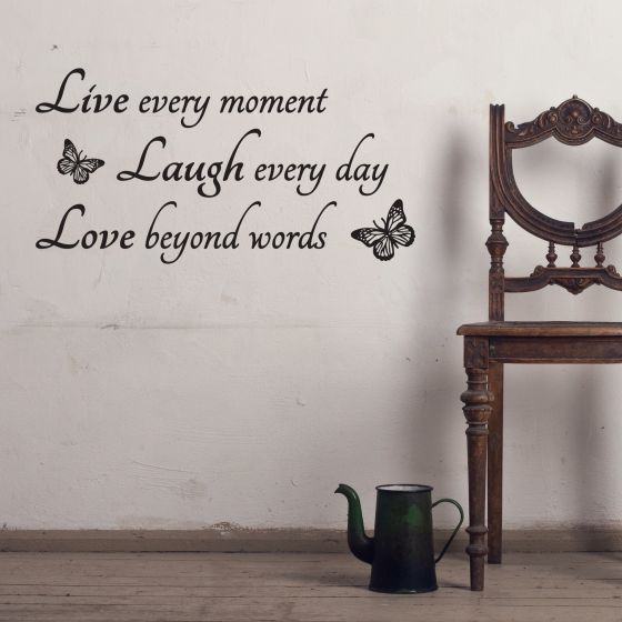 Wallstickers - Live Laugh Love - NiceWall.dk