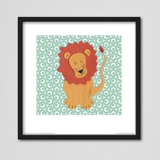 Løveplakat - Plakat med en sød løve til børneværelset - NiceWall.dk